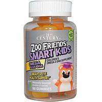 21st Century, Zoo Friends Smart Kids Omega + DHA, 60 gummys