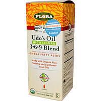 Flora, Udos Choice, Масло Удо, 3•6•9 состав, с высоким содержанием лигнана, 17 жидких унций (500 мл)