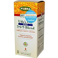 Flora, Udos Choice, Масло Удо, DHA 3. 6 .9 Смесь 8.5 жидких унции (250 мл)