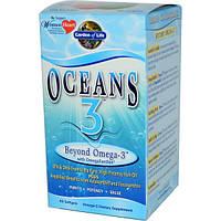Garden of Life, Oceans 3, Beyond Omega-3 с OmegaXanthin, 60 капсул