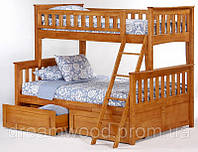Двухярусная кровать Жасмин, массив дуб, ясень, фото 1
