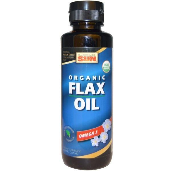 Health From The Sun, Органическое льняное масло, 8 жидких унций (237 мл)