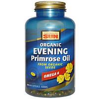 Health From The Sun, Органическое масло примулы вечерней (энотеры), 500 мг, 180 желатиновых мини-капсул