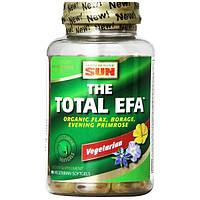 Health From The Sun, Total EFA, 100%-но вегетарианский продукт, 90 вегетарианских мягких капсул