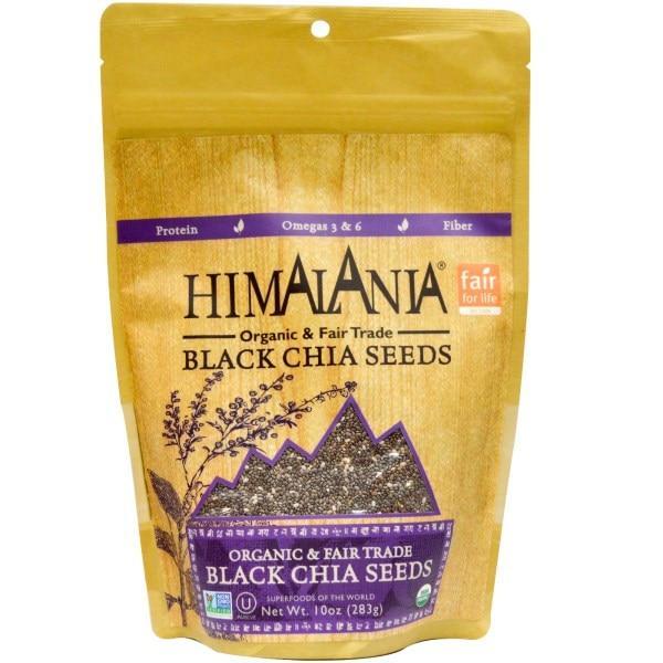 Himalania, Органические черные семена чиа стандарта честной торговли, 10 унций (283 г)