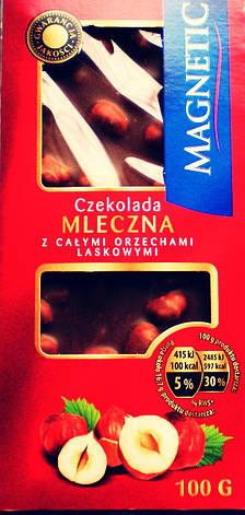 Шоколад Мagnetic молочный с цельным орехом 100 г, фото 2