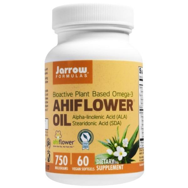 Jarrow Formulas, Масло Ахифлауэр, 60 вегетарианских мягких желатиновых капсул