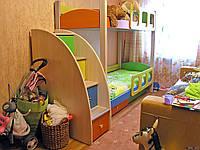 Двухярусная кровать Анна, массив дуб, ясень