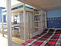 Двухярусная кровать Натали, массив дуб, ясень