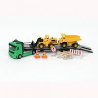 Игровой набор - СТРОИТЕЛЬНАЯ ТЕХНИКА (тягач, экскаватор, самосвал) - под заказ