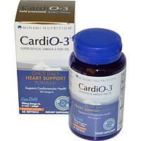 Minami Nutrition, CardiO-3, раз в день, со вкусом апельсина, 60 мягких капсул