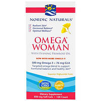 Nordic Naturals, Omega Woman, с маслом примулы, 830 мг, 120 гелевых капсул