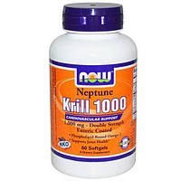 Now Foods, Нептун крил 1000, 60 капсул