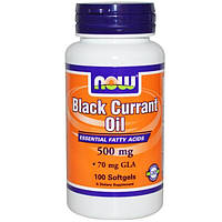 Now Foods, Масло чёрной смородины, 500 мг, 100 желатиновых капсул