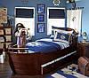 Кровать детская подростковая Капитан, массив дуб, ясень