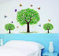 Интерьерная наклейка на стену Цветущие деревья (AY894)