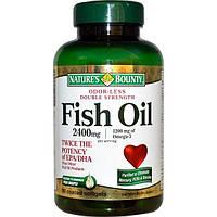Natures Bounty, Рыбий жир двойной силы без запаха, 2400 мг, 90 мягких капсул в оболочке
