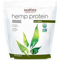 Nutiva, Органический конопляный белок с высоким содержанием клетчатки, 3 фунта (1,36 кг)