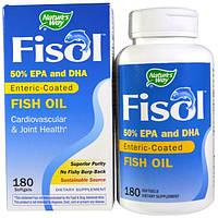 Natures Way, Fisol, рыбий жир, 180 мягких желатиновых капсул