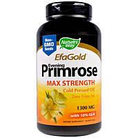 Natures Way, EFAGold, Примула вечерняя, максимальная концентрация, 1,300 мг, 120 мягких таблеток