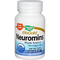Natures Way, EFAGold, Нейромины, 60 растительных желатиновых капсул