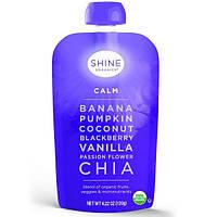 SHINE Organics, Успокоение, банан, тыква, черника, ваниль, пассифлора, чиа, 4упаковки, по 4,22 унции (120 г) в каждой