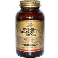 Solgar, Масло энотеры, 500 мг, 180 гелевых капсул