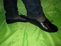 Мокасины на шнурке черные