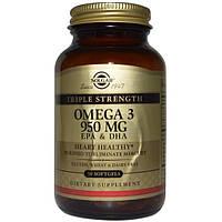 Solgar, Омега-3 ЭПК и ДГК, 950 мг, 50 желатиновых капсул
