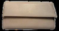 Стильный женский клатч Devid Jones песочного цвета KLK-220561