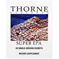 Thorne Research, Супер EPA, 45 пакетиков, по 2 гелевые капсулы в каждом