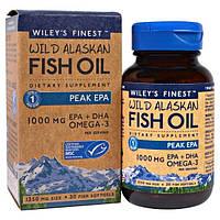 Wileys Finest, Аляскинский рыбий жир, пик ЭПК, 1250 мг, 30 рыбных мягких капсул