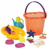Набор для игры с песком и водой - МЕГА-ВЕДЕРЦЕ ПАПАЙЯ (10 предметов) - под заказ