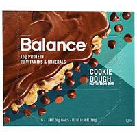 Balance Bar, Батончик Здорового Питания, печенье Тесто, 6 баров, 1,76 унции (50 г) каждый