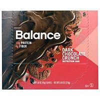 Balance Bar, Батончик Здорового Питания, Хрустящий Темный Шоколад, 6 батончиков, 1,58 унции (45 г) каждый