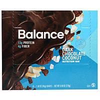 Balance Bar, Батончик Здорового Питания, Темный Шоколад с Кокосом, 6 батончиков, 1,58 унции (45 г) каждый