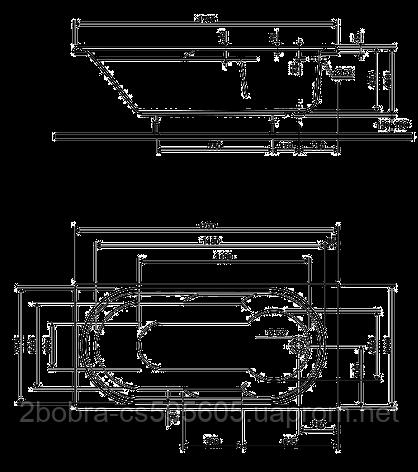 Ванна Прямоугольная 170*80 см. Kolo LAGUNA , фото 2
