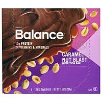 Balance Bar, Батончик Здорового Питания, Карамель с Орехом, 6 батончиков, 1,76 унции (50 г) каждый