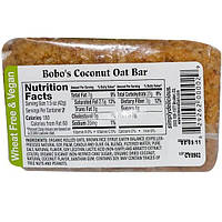 Bobos Oat Bars, Кокосовый батончик, 3 унции (85 г)