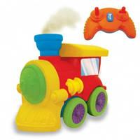 Развивающая игрушка на ИК управлении - ПАРОВОЗИК ЧУХ (на колесах, свет, звук, водяной пар) - под заказ