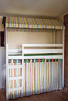 Кровать чердак Домик, массив березы, ольха, фото 1