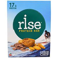 Rise Bar, Протеин + Батончик с хрустящей крошкой кэроб, 12 шт по 60 г