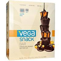 Vega, Snack Bar, Шоколадные кексы с арахисовым маслом, 12 батончиков, 1,48 унции (42 г) каждый