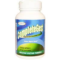Enzymatic Therapy, Enzymatic Therapy, CompleteGest, Ферменты для приема во время еды, 180 растительных капсул