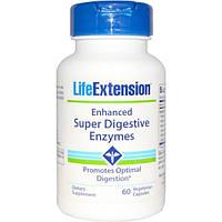 Life Extension, Улучшенные супер пищеварительные ферменты, 60 капсул в растительной оболочке