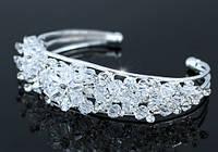 Браслет Bridal Pageant Handmade Cuff Bangle use Swarovski Crystal SSB056