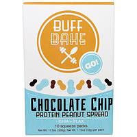 Buff Bake, Протеиновый Арахисовый Спред с Шоколадной Крошкой, Чиа + Лен, 10 Мягких Упаковок, по 1,15 унции (32 г) каждая