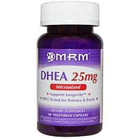 MRM, Дегидроэпиандростерон, 25 мг, 90 капсул на растительной основе