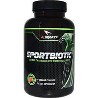 AI Sports Nutrition, Спортбиотик Клубничный вкус, 60 жевательных таблеток