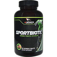 AI Sports Nutrition, Sportbiotic, Chocolate Flavor, 60 Chewable Tablets